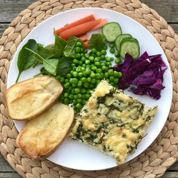 Spinach, Feta and Rice Bake; Vegetarian; Gluten free