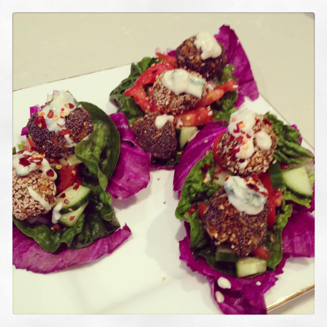 raw veggie falafels