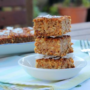 Carrot Coconut and Banana Slice