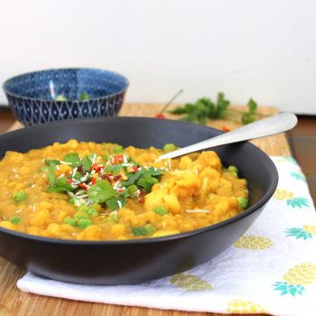 split pea and cauliflower curry